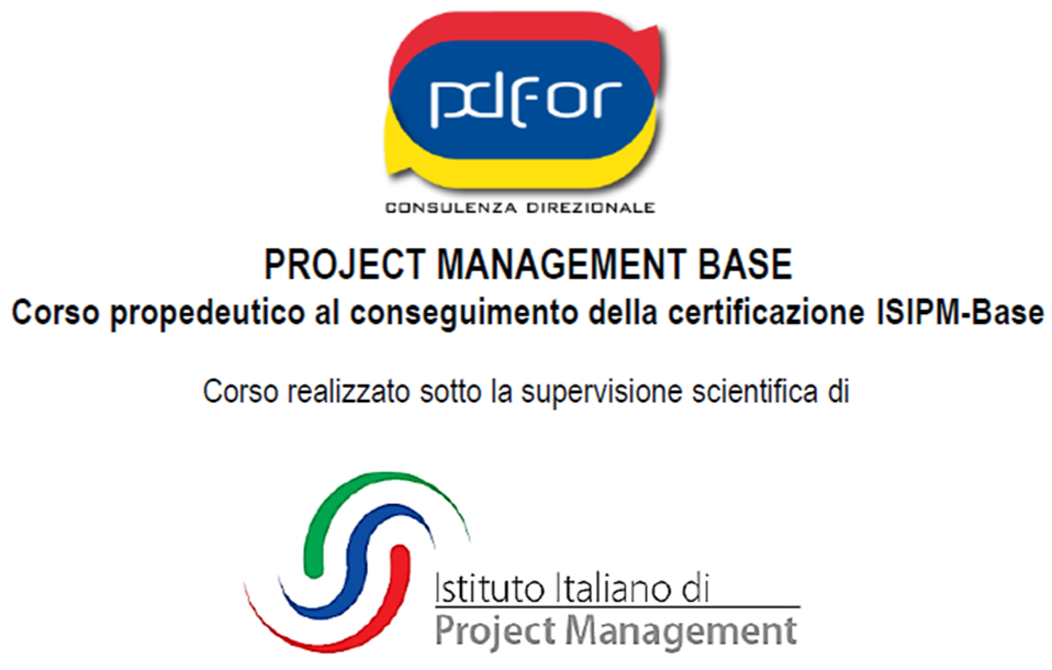 Project Management Base: certificati con Pd For